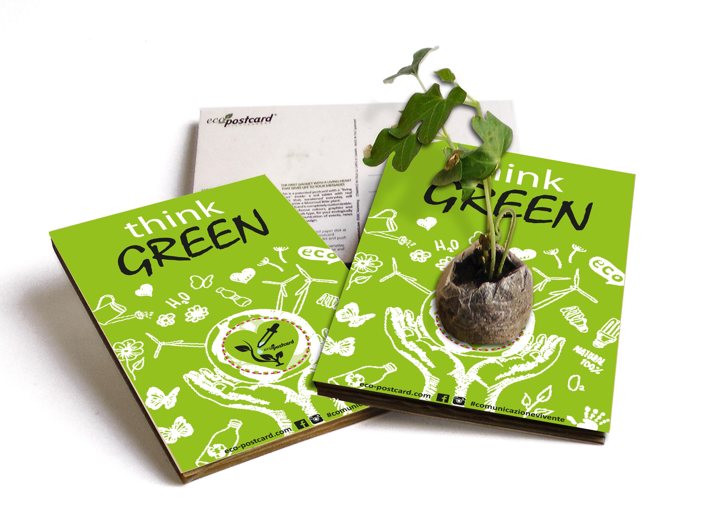 eco-postcard think-green