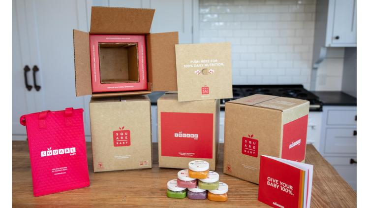Baby food delivered in an insulated, compostable corrugated